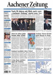 1996: Die Aachener Volkszeitung wird zur Aachener Zeitung