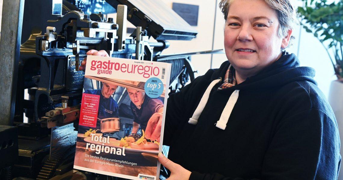 Belinda Petri präsentiert den Gastroguide Euregio